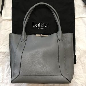 Botkier Grey Pebbled 100% Leather Tote Bag